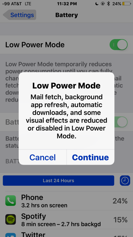 Lower Power Mode works to save battery