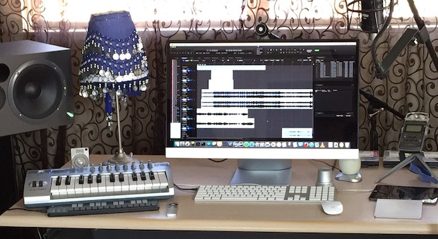 Mac setup of a professional music recording studio