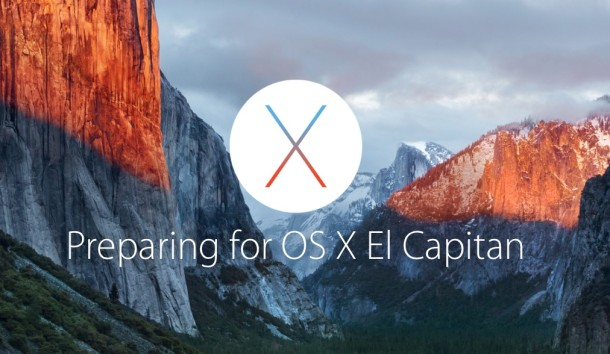 Preparing for OS X El Capitan