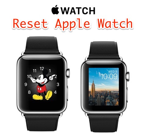 Reset an Apple Watch to factory defaults