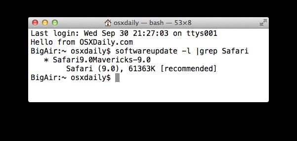 Safari 9 for OS X Mavericks