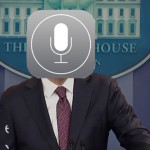 Siri answers question at White House press conference