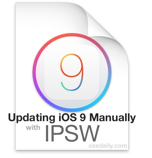 Update iOS 9 Manually with Firmware Files