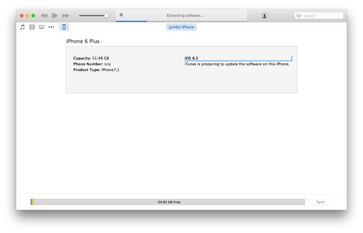 Updating to iOS 9 with firmware IPSW in iTunes