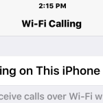 Wi-Fi Calling enabled on iPhone