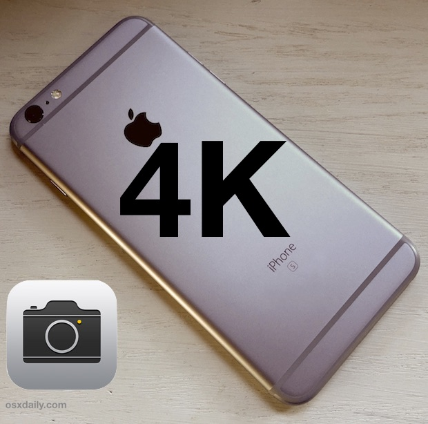 Record 4K Video with iPhone