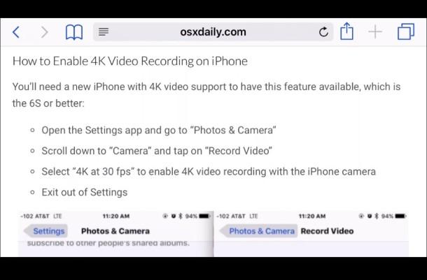 Safari on iPhone running on an HDMI TV screen through HDMI connection