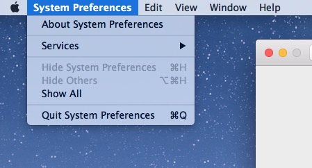 Light Mode menu pull down Mac