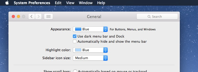 Enabling Dark Mode in Mac OS X