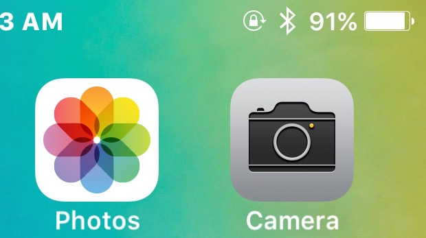 Find missing Camera app icon in iOS