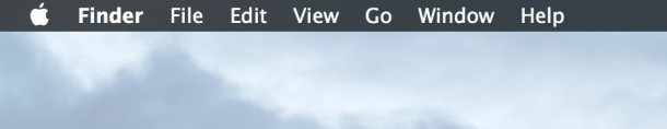Hide and show the menu bar in Mac OS X