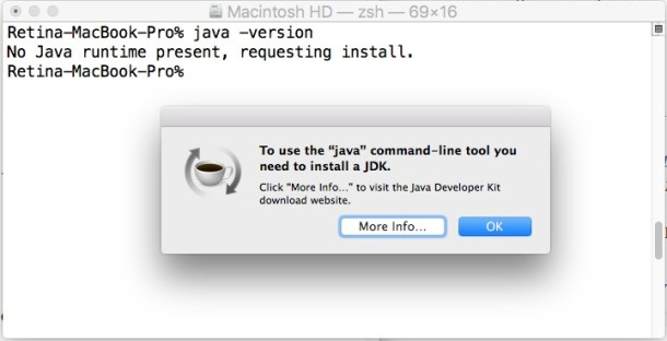 Install java in OS X El Capitan