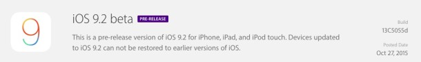 iOS 9.2 beta 1