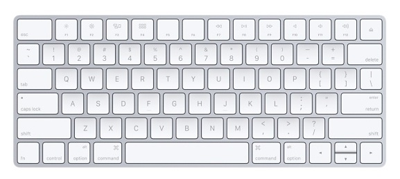 Mac keyboard with function keys