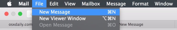 Create new open mail tabs in OS X Mail app