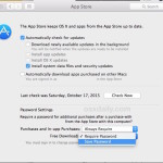 Save password for free app store downloads in Mac OS X