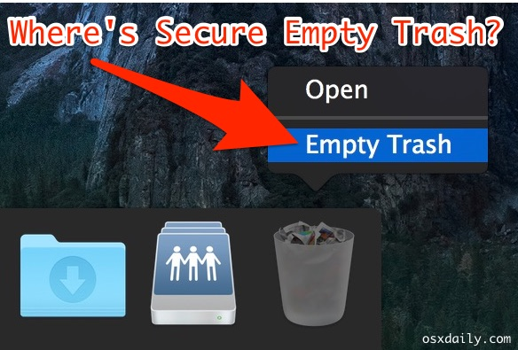 Secure Empty Trash equivalent in OS X
