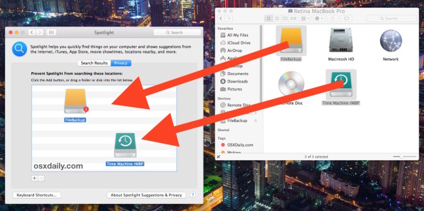 Stop Spotlight from indexing external hard drives to speed it up