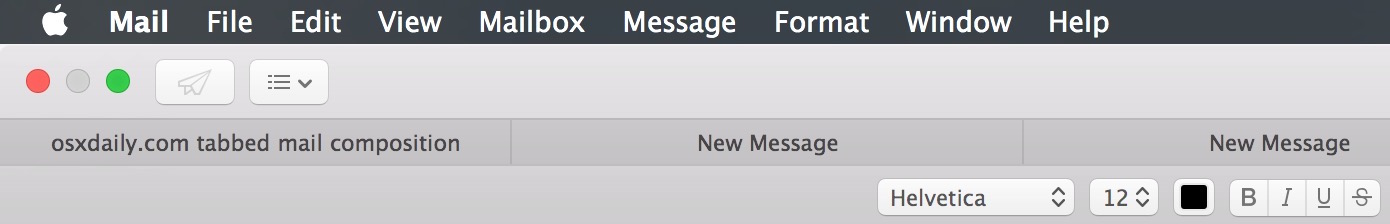 Tabbed Emails in Mail app for Mac OS X