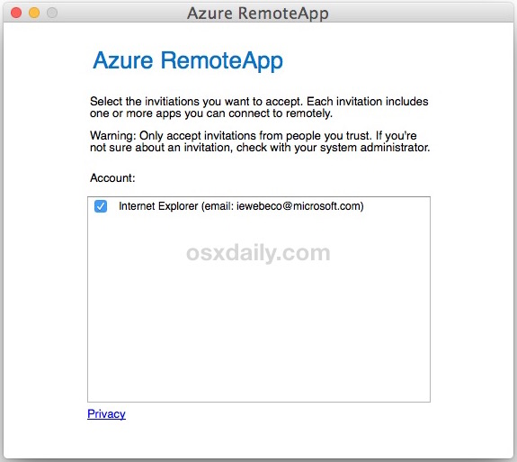 Using IE 11 on Mac with RemoteApp Azure