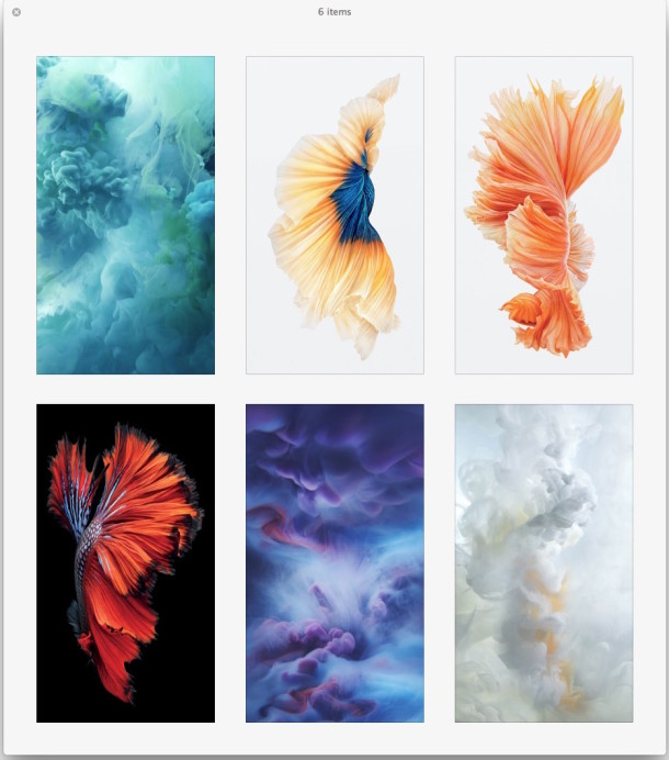 Live wallpapers as still images from iPhone 6s