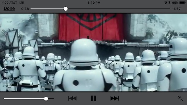 Watching a movie on TV connected to iPhone