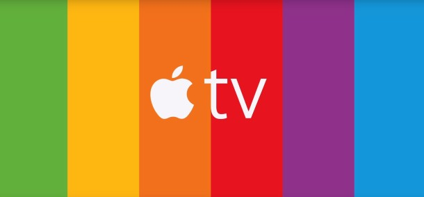 Apple TV six color ad