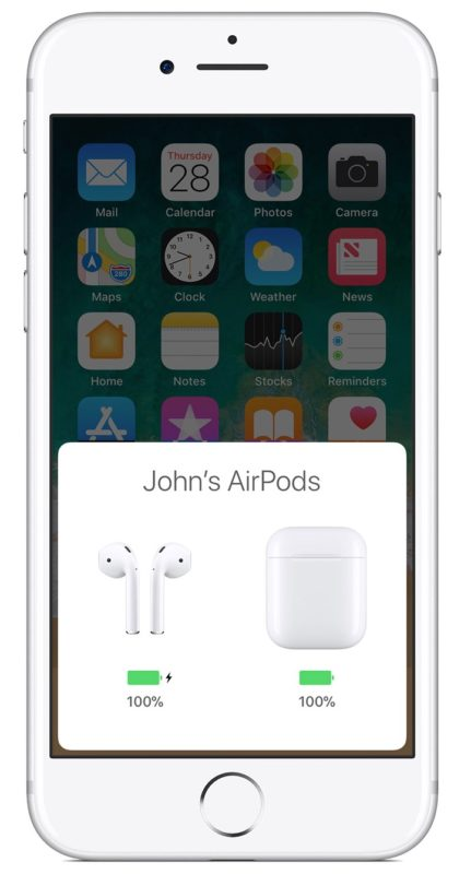 Check AirPods battery life from iPhone