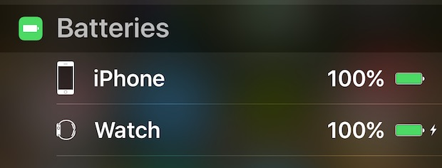 Check the battery life of connected Bluetooth devices from iOS Notification Center