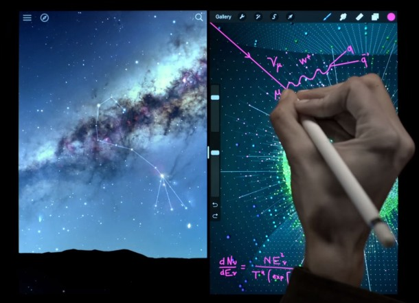 iPad Pro great universe space commercial