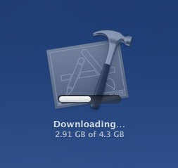 Viewing the download status of an App Store app in Launchpad on Mac