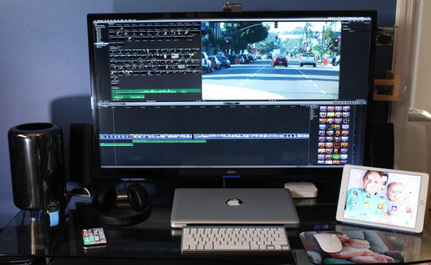 Mac Pro w 4K Display director setup setup