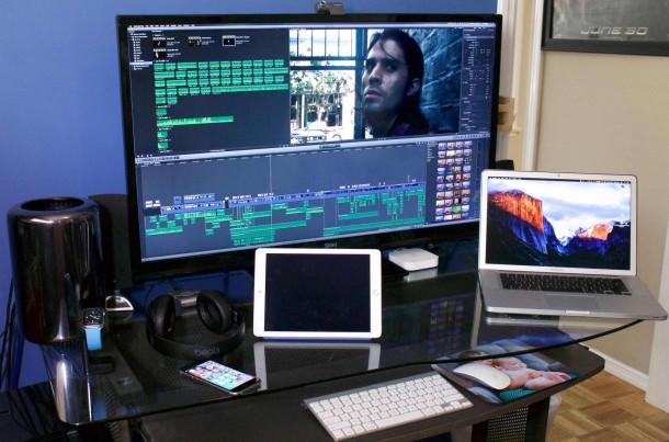 Mac Pro setup of a director