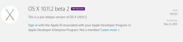 OS X 10.11.2 Beta 2