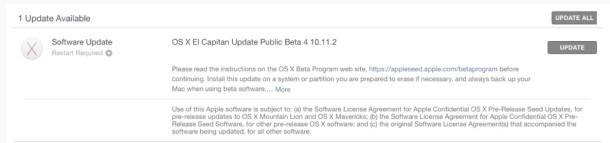 OS X 10.11.2 Public Beta 4