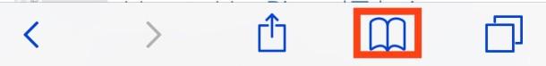 Safari bookmarks icon