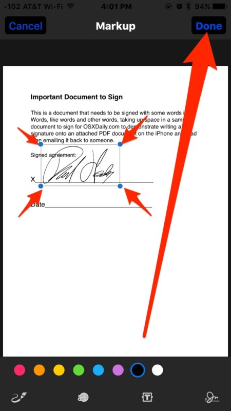 sign a pdf on iphone how to sign documents on iphone amp from email quickly 18009