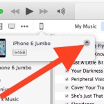 Ejecting an iPhone from a computer with iTunes