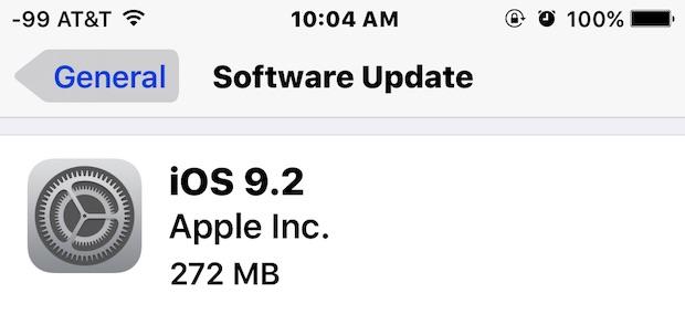iOS 9.2 update