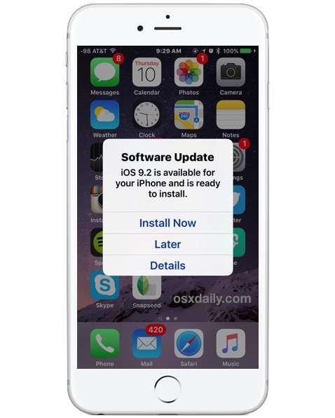 iOS Software Update automatic installation