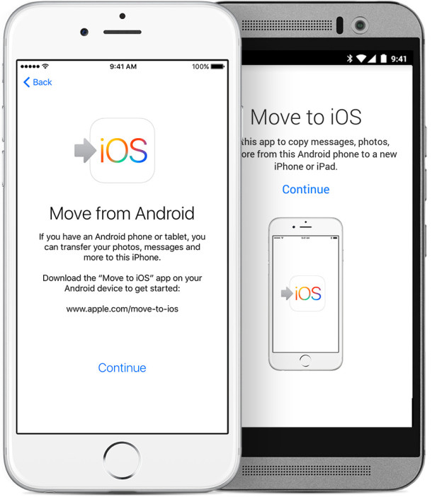 Migrate Android to iPhone