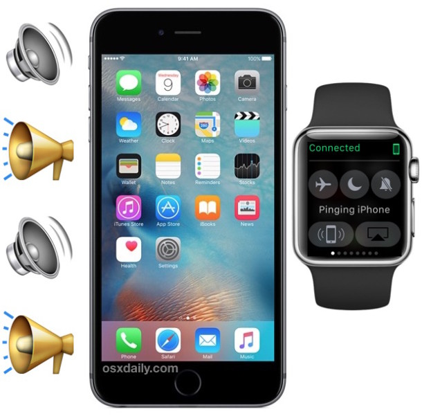 Ping iPhone with Apple Watch to find a misplaced iPhone