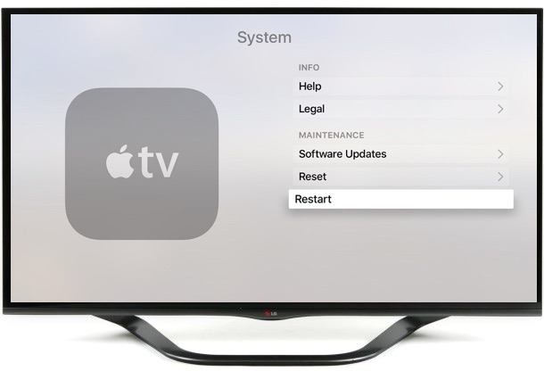 How to restart Apple TV