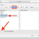 Adding and changing DNS servers in Mac OS X