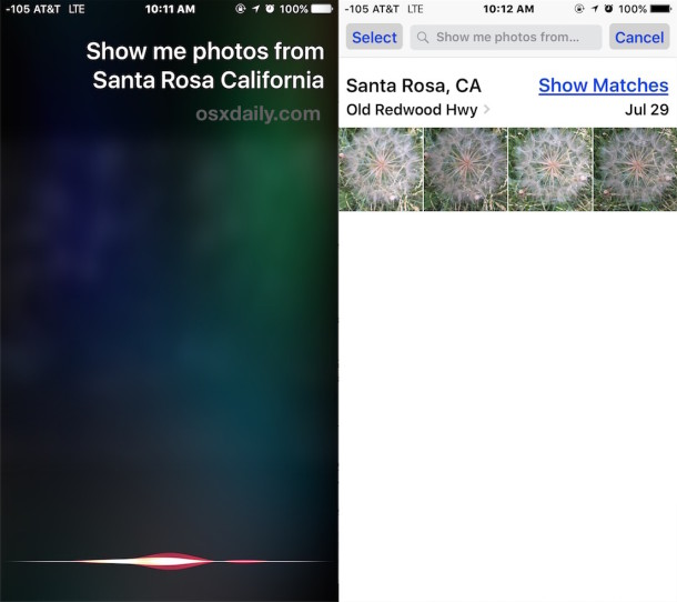 Show Photos by Location with Siri