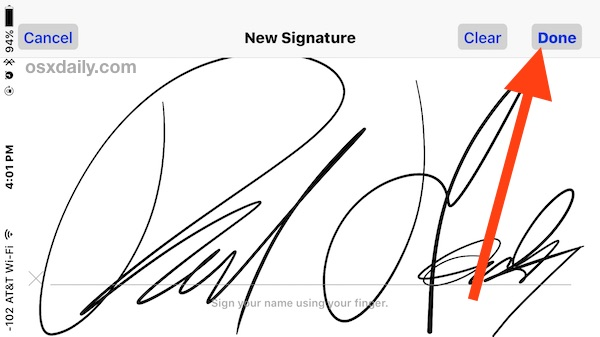 Sign a document on iPhone