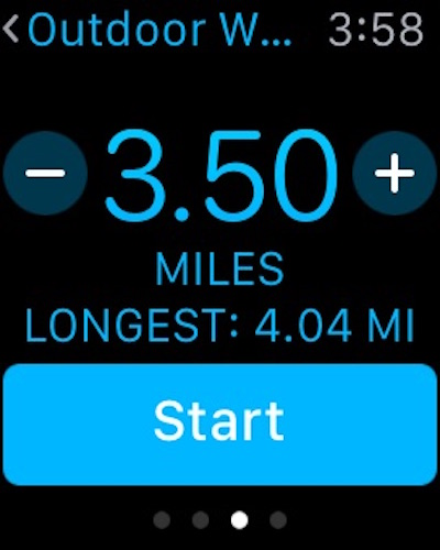 Switch workout from miles to kilometers  on Apple Watch