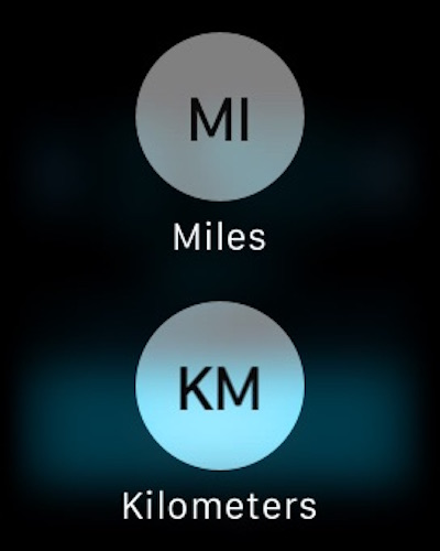 Switch workout on Apple Watch from miles to kilometer