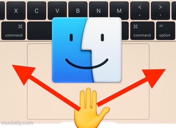 Three Finger Drag Gesture on Mac Trackpad