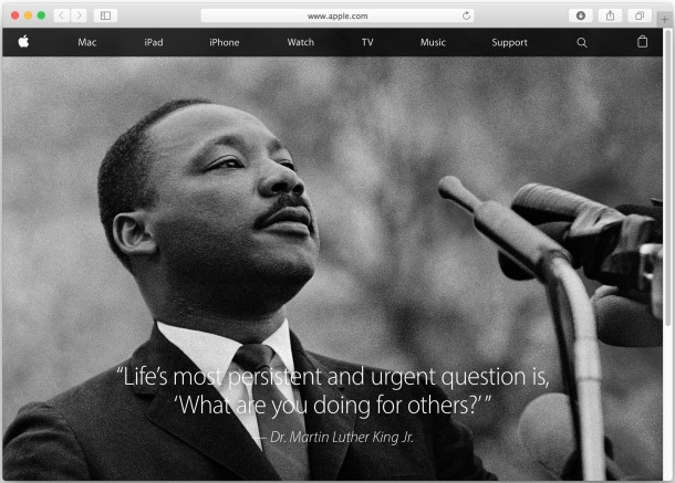 Apple tribute to MLK Jr